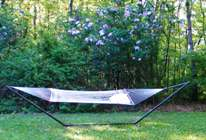 Relax in the hammock near the lilacs at the Self Realization Sevalight Centre for Pure Meditation, Healing & Counselling, Bath MI USA