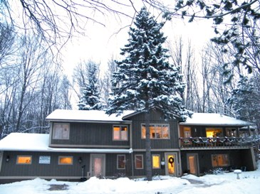Self Realization Meditation Healing Centre, Michigan, USA ~ early morning winter